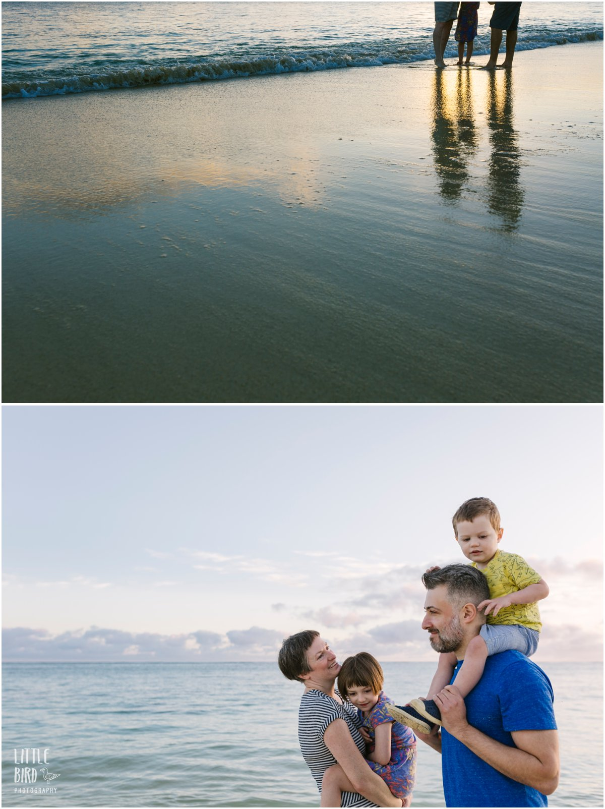 family-at-lanikai-beach-for-sunrise