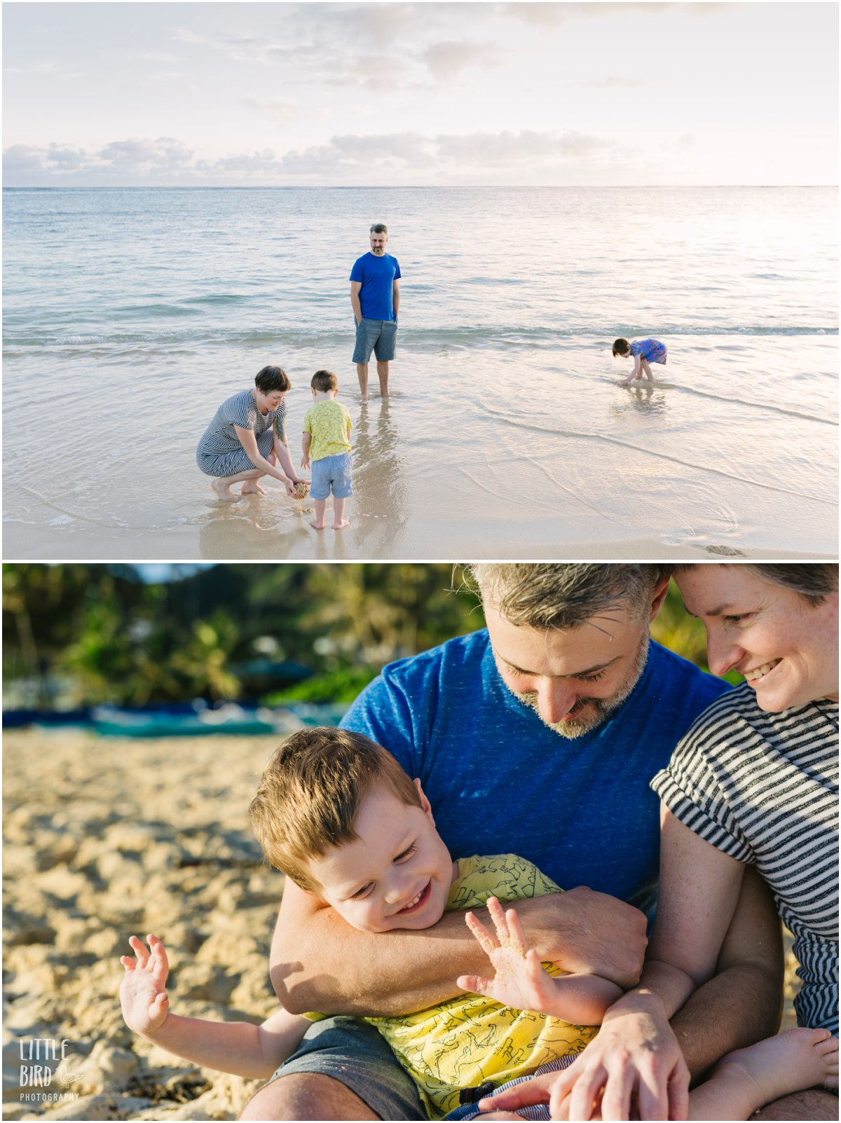 hawaii family lifestyle photographer at lanikai beach