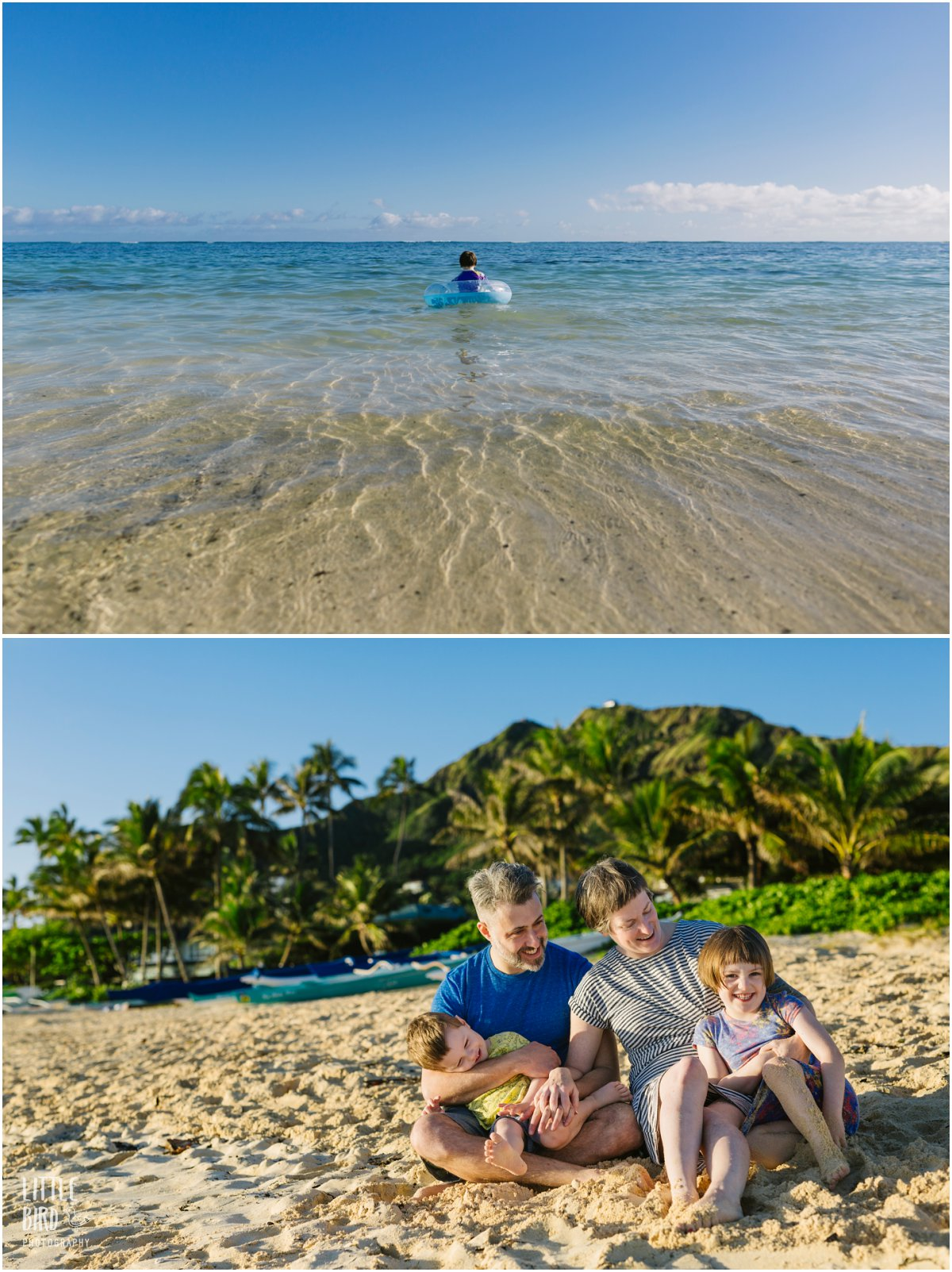 hawaii family portraits at the beach