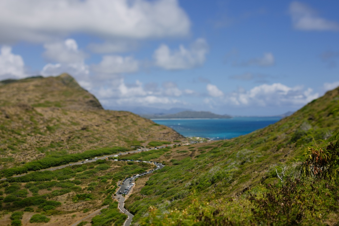 view of waimanalo bay from the makapuu lighthouse trail