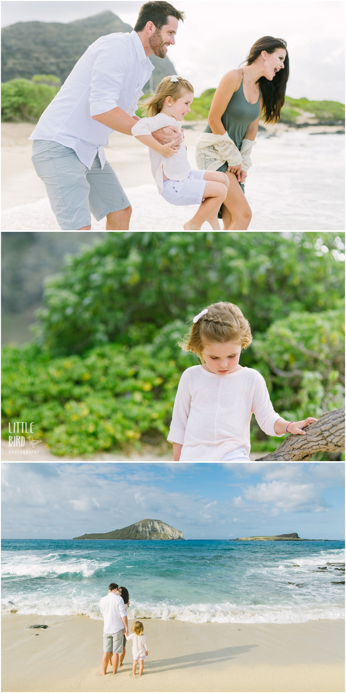 beautiful family portraits makapuu lighthouse beach