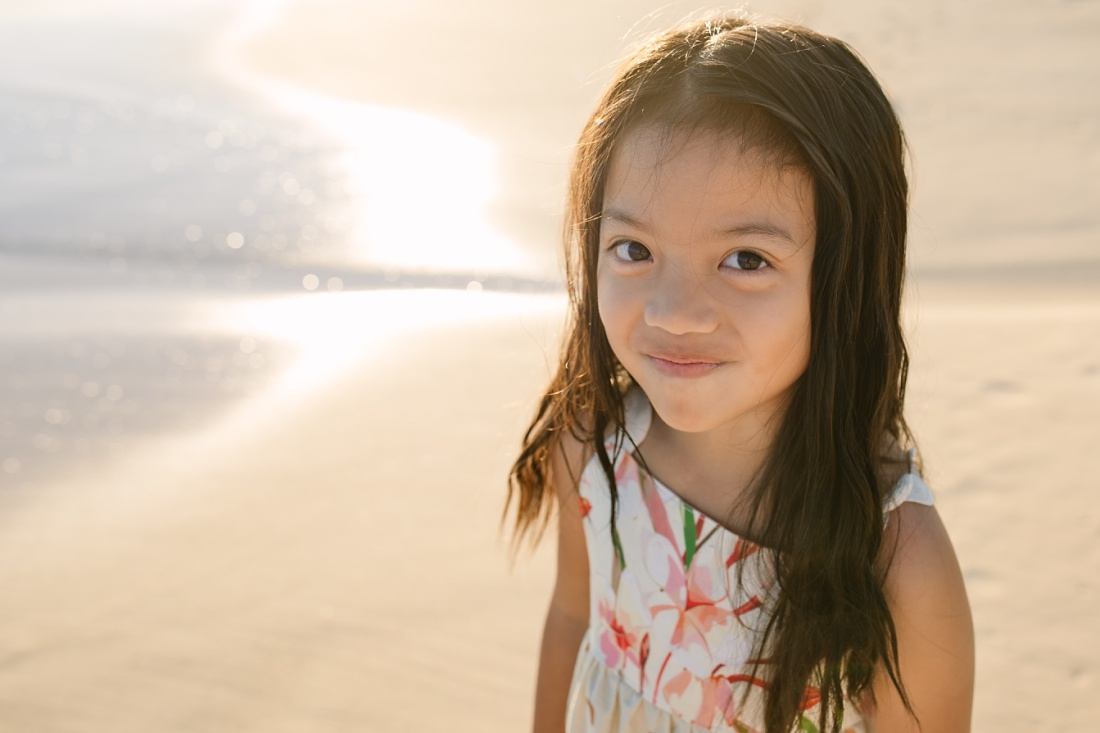 portrait of a girl at the beach