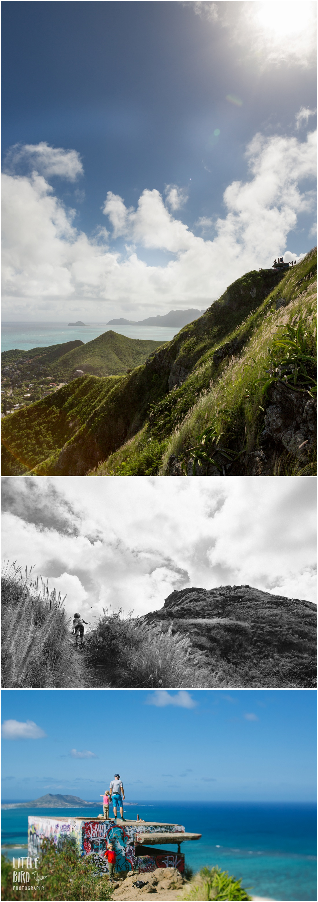 view from the first pillbox of lanikai pillbox trail