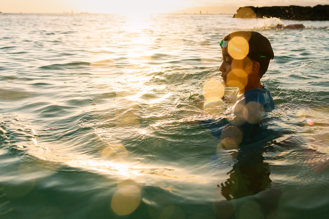 photos captured during a Honolulu Family Lifestyle Video session in waikiki