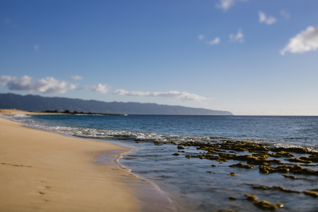an empty beach on the north shore of oahu