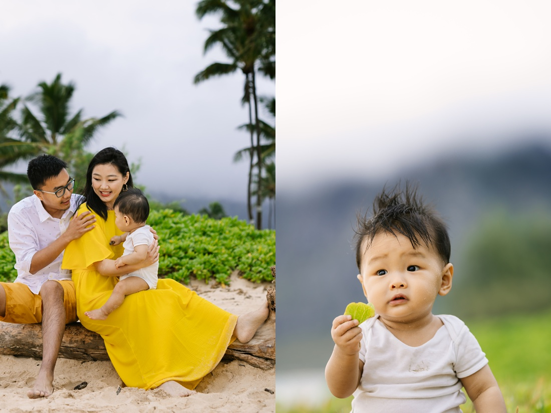 adorable baby photos at the beach in hawaii