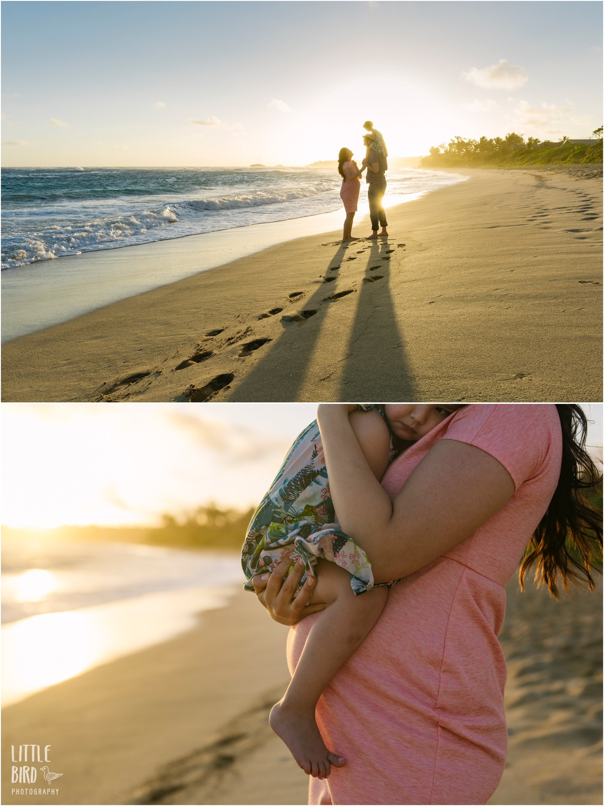 oahu maternity portraits laie beach