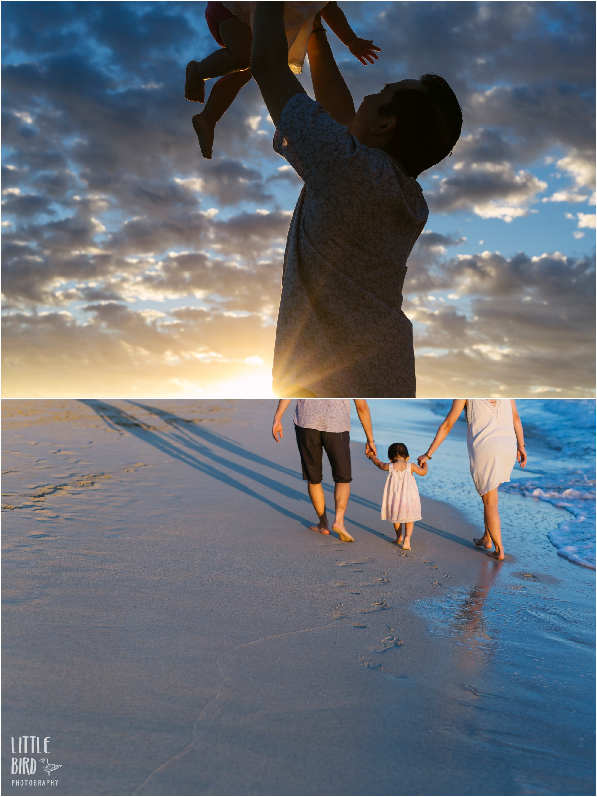 kailua beach family photography at sunrise