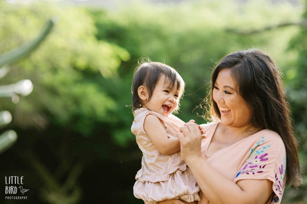 mom and daughter portrait by little bird photography